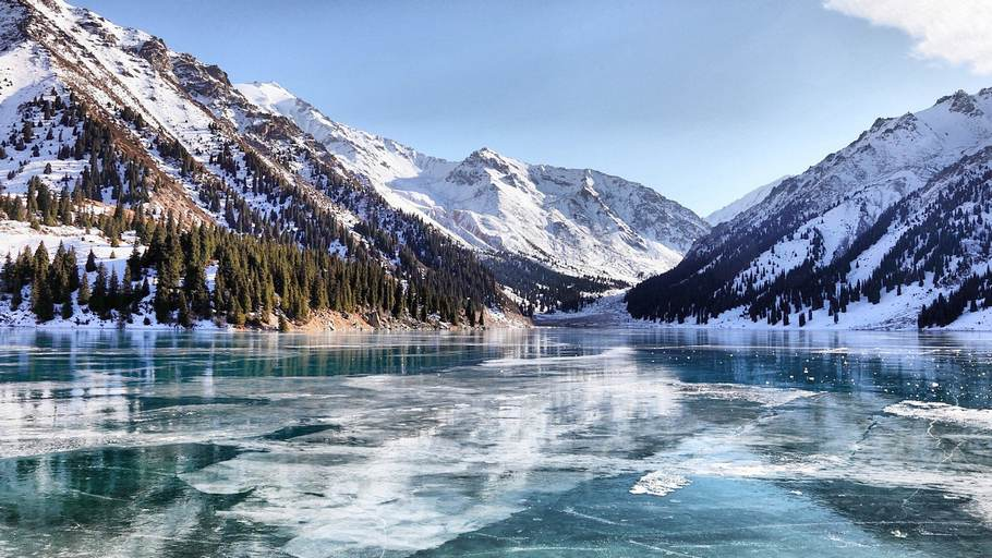 Big Almaty Lake in winter